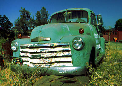 Photograph - Green Pickup 1959 - American Car Photo by Art America Gallery Peter Potter