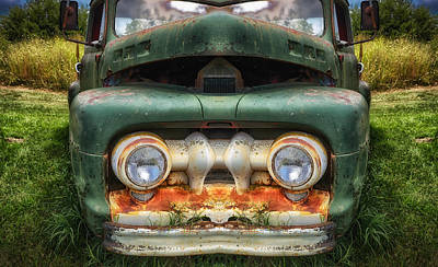 Photograph - Green Pickup by James Barber
