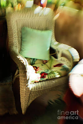 Photograph - Green Pillow Chair by Craig J Satterlee