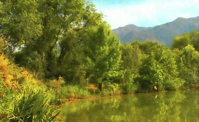 Digital Art - Green Pond Dwp by David King