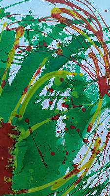 Mixed Media - Green Red by Jimmy Williams