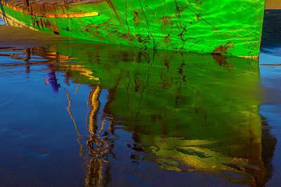 Green Reflection Art Print
