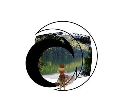 Digital Art - Green Reflections by Nancy Pauling