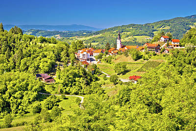 Photograph - Green Region Of Zagorje And Town Klanjec View by Brch Photography
