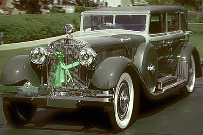 Photograph - Green Ribbon Rolls Royce by Dennis Baswell