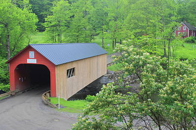 Photograph - Green River Covered Bridge Guilford Vermont In Spring by John Burk
