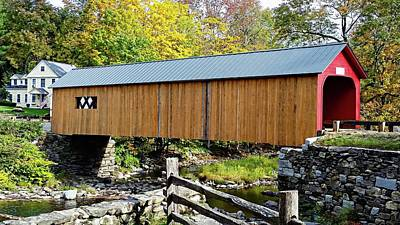 Photograph - Green River Covered Bridge - Southern Vermont by Joseph Hendrix