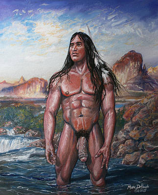 Painting - Green River Man by Marc  DeBauch