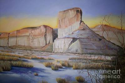 Art Print featuring the painting Green River Wyoming by Marlene Book