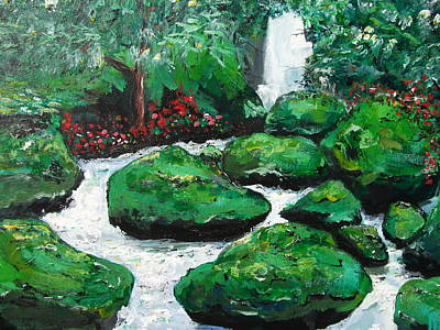 Art Print featuring the painting Green Rock Creek by Dan Whittemore