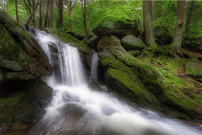 Photograph - Green Rock Falls by Bill Wakeley