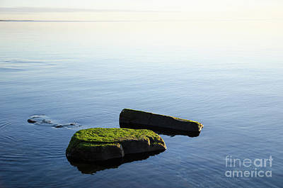 Photograph - Green Rocks In Smooth Water by Kennerth and Birgitta Kullman