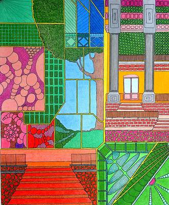 Drawing - Green Roof by Gregory Carrico