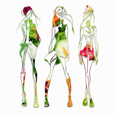 Mixed Media - Green Salad Fashion by Marvin Blaine