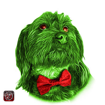 Painting - Green Schnoodle Pop Art - 3687 by James Ahn