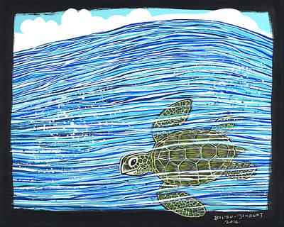 Endangered Green Sea Turtle Original