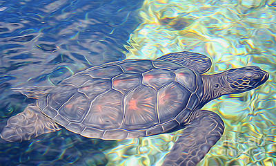 Hawaii Sea Turtle Digital Art - Sea Turtle by Sean  James G