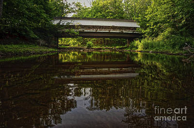 Photograph - Green Sergeant's Covered Bridge by Debra Fedchin