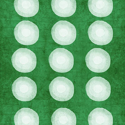 Green Shibori 4- Art By Linda Woods Art Print