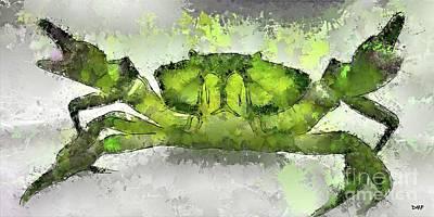 Beach Digital Art - Green Shore Crab by Dragica Micki Fortuna