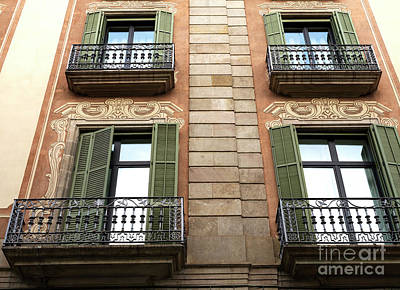 Photograph - Green Shutters In Barcelona by John Rizzuto
