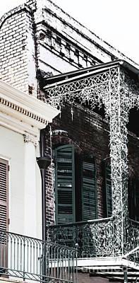 Photograph - Green Shutters On Balcony by Frances Ann Hattier