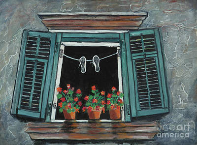 Painting - Green Shutters by Pati Pelz