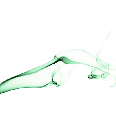 Indoor Still Life Photograph - Green Smoke by Scott Norris
