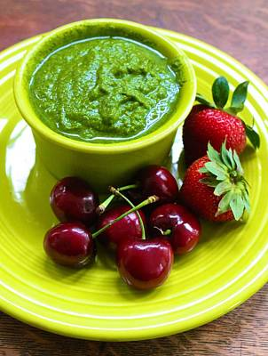 Photograph - Green Soup And Berries by Polly Castor