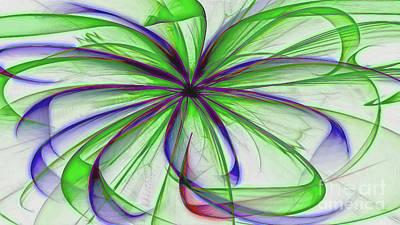 Digital Art - Green Spider Mum by Diana Mary Sharpton