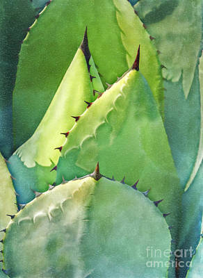 Digital Art - Green Spikes by Liz Leyden