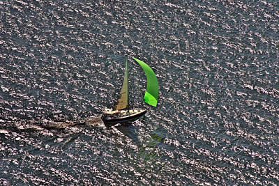 Photograph - Green Spinnaker by Duncan Pearson