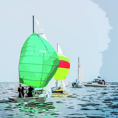 Photograph - Green Spinnaker by Michael Arend