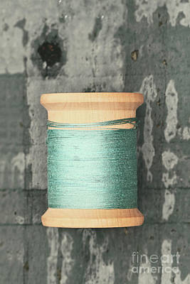 Photograph - Green Spool Of Thread by Stephanie Frey