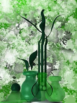 Relief Digital Art - Green Stain Still Life by Alberto RuiZ