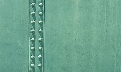 Green Steel With Rivets Art Print
