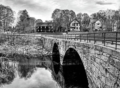 Photograph - Green Street Bridge In Black And White by Wayne Marshall Chase