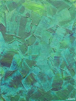Painting - Green Strokes by Alexandra Schumann