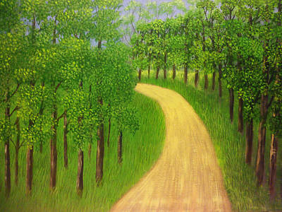 Road Painting - Green Summer by Wilbert Cariotte