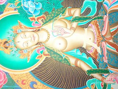 Art Of Vital Painting - Green Tara by Suresh Tamang