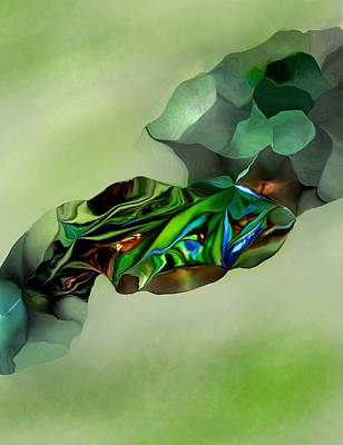 Digital Art - Green Thing by David Lane