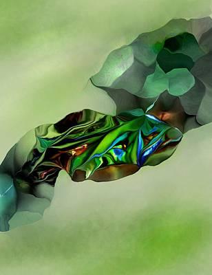 Digital Art - Green Thing by David Lane