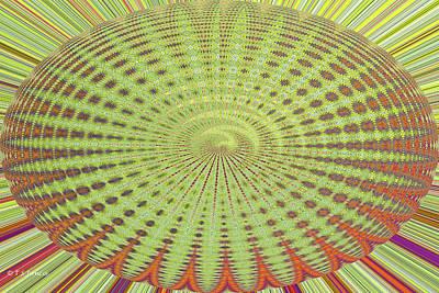 Digital Art - Green Thing by Tom Janca