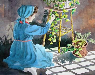 Painting - Green Thumb by Tony Caviston