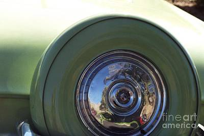 Photograph - Green Thunderbird Extra Wheel Cover by Heather Kirk