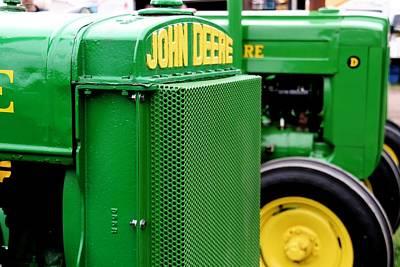 Farm Scene Photograph - Green Tractors by Heather Allen
