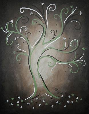 Green Tree Art Print