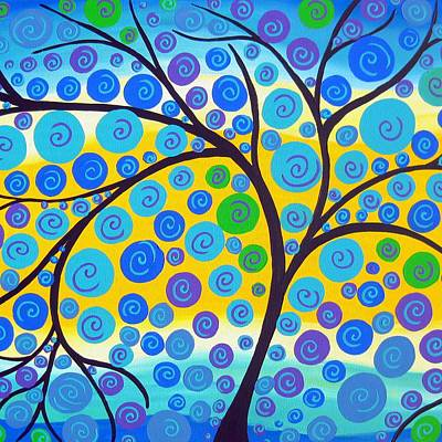 Green Tree Art Print by Cathy Jacobs