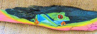 Mixed Media - Green Tree Frog by Ann Michelle Swadener
