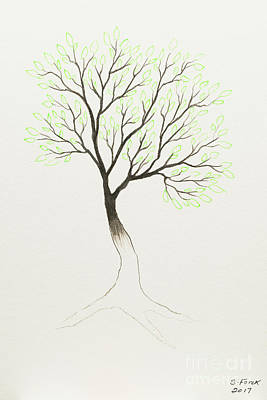 Painting - Green Tree by Stefanie Forck